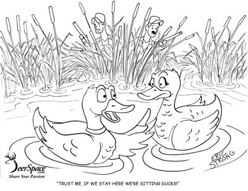 Coloring pages hunter ed adventures for Duck hunting coloring pages